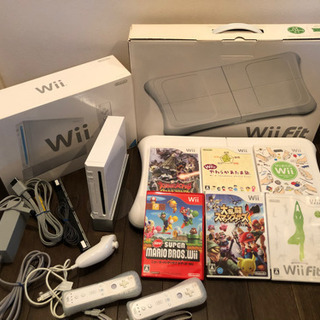 Wii本体、Wiiフィットバランスボード、ソフト6本セット