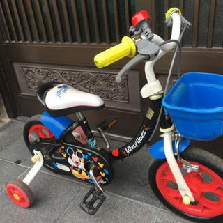 幼児用自転車12インチ補助輪付き