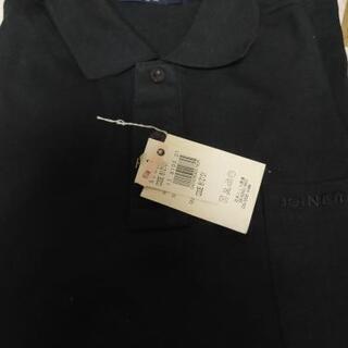 新品未使用 メンズ 長袖黒ポロシャツ
