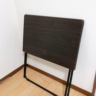 【美品】ニトリ 折りたたみデスク フレッタ(DBR)+ワークチェア プロンタ(BK) - 京都市