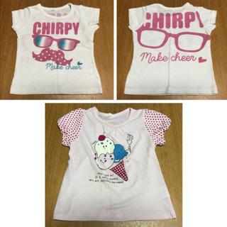 女の子 95 Tシャツ 2枚(中古品)