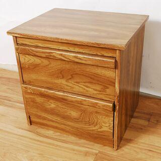 3618 木製 ナイトテーブル サイドテーブル 収納棚 引…