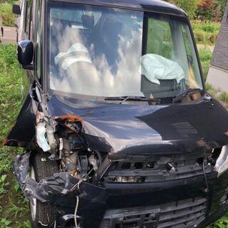 H26年 スズキ スペーシアカスタム XS 4WD 事故車 走行...