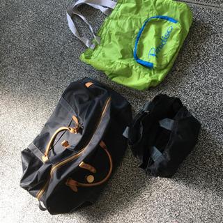 カバン3つ(ボストンバッグ、エコバッグ、使い勝手の良いハンドバッグ)