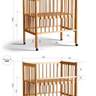 【ネット決済】ミニベビーベッド 折り畳み可能 高さ二段階
