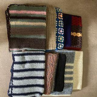 毛糸手編みのひざ掛け 10枚