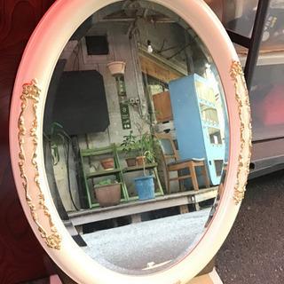 イタリア製 壁掛け鏡 ミラー 楕円形 クラシック アンティーク ...