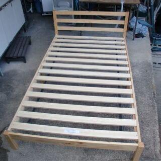 ニトリ 木製枠の組み立てベット 中古