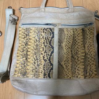 蛇革バッグセット