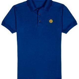 《鈴マーク》の刺繍されたオリジナルデザインポロシャツ ! ! 【青色】の画像