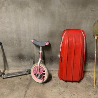 一輪車、キックボード、ソリ、虫取り網 セット