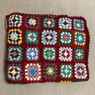 毛糸手編み ベッドカバー