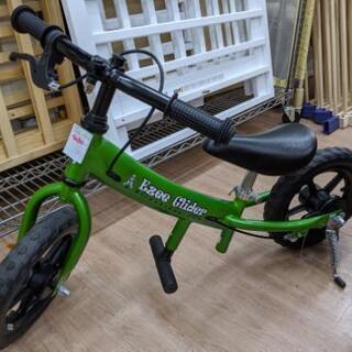 子供用自転車 ペダルなし ブレーキ&スタンド付 グリーン色 練習...