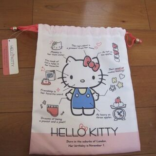 サンリオショップ購入☆ 新品・タグ付き■ キティ 巾着■キ…