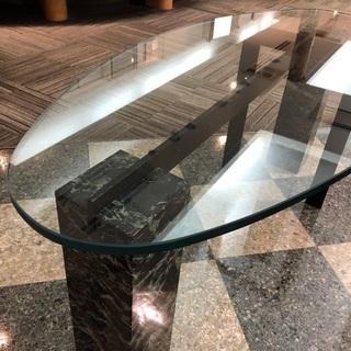 大理石のガラステーブル - 福岡市