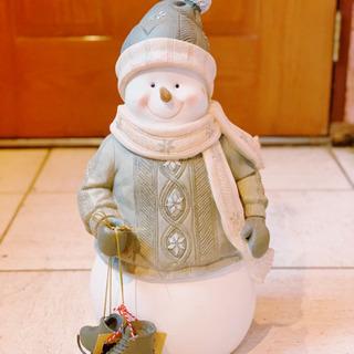 クリスマス 雪だるま SnowMan スキー インテリア
