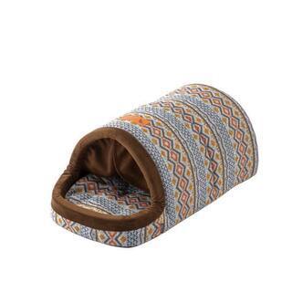 ドームベッド ノルディック柄 Lサイズ 犬猫