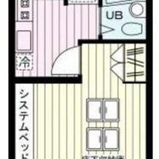 中目黒 1K 19㎡ 角部屋 床下収納 ベッド 冷蔵庫 照明器具...
