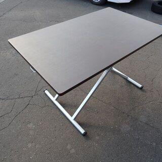 ニトリ★昇降テーブル/ダイニングテーブル/スプリング 幅 1200×奥行 750×高さ 240~750mmの画像