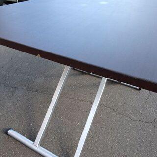 ニトリ★昇降テーブル/ダイニングテーブル/スプリング 幅 1200×奥行 750×高さ 240~750mm - 家具