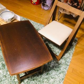 アンティーク椅子テーブルセット