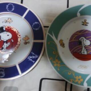 【未使用】スヌーピー絵皿 2枚セット 値下げしました