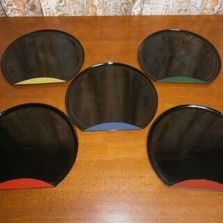食卓の彩に!! おぼん トレー 5枚セット (新品保管品)