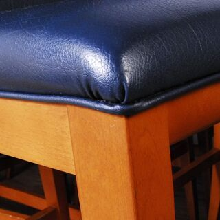 3662 カウンターチェア 12脚セット ナラ材 木製 ネイビー D40×W46.5×H115cm 座面高さ77cm 愛知県岡崎市 直接引取可 - 家具