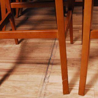 3662 カウンターチェア 12脚セット ナラ材 木製 ネイビー D40×W46.5×H115cm 座面高さ77cm 愛知県岡崎市 直接引取可 − 愛知県