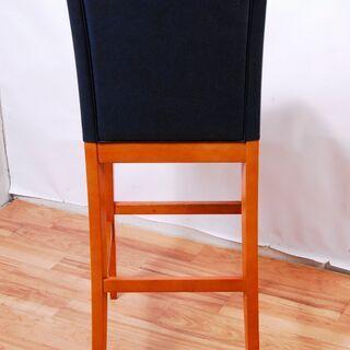 3662 カウンターチェア 12脚セット ナラ材 木製 ネイビー D40×W46.5×H115cm 座面高さ77cm 愛知県岡崎市 直接引取可 - 売ります・あげます