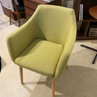 アームチェア チェア 椅子 グリーン 中古品 - 家具