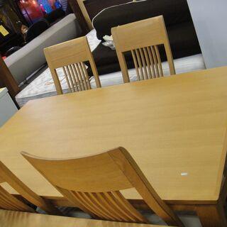 大塚家具(OTSUKA) ダイニング5点セット タモ材使用 食卓...