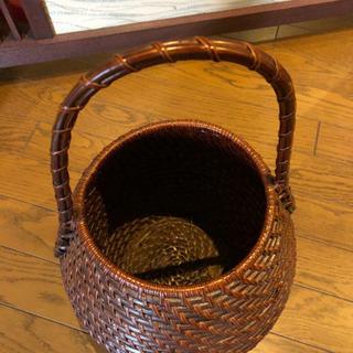 籐製 花籠