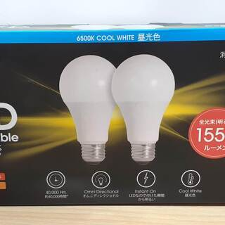 【ネット決済】2本セット LED電球 (FEIT 昼光色 E26...