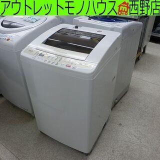 洗濯機 8kg 2015年製 AQW-V800D アクア 8.0...