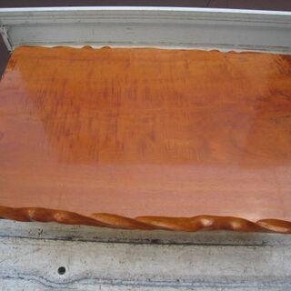 欅? ケヤキ? 座卓 テーブル 121.5cm×80cm 中古品...