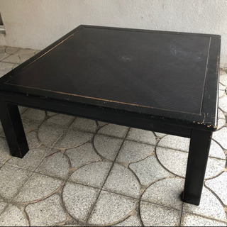 無料!ローテーブル 座卓正方形 サンヨー 中古現状品