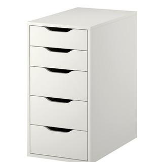 【オフィスにぴったりな引き出しユニット】IKEA ALEX アレ...