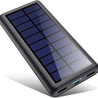 【新品・未使用】モバイルバッテリー ソーラー 26800mAh