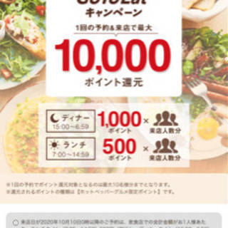 GO TO Eat加盟店(ホットペッパー)ポイントが貯まって大変...
