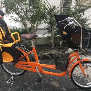 低床アルミフレーム子供二人乗せ自転車