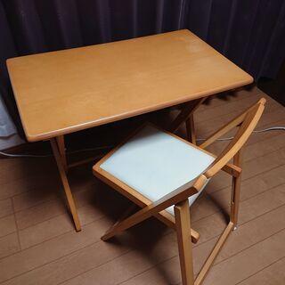 折りたたみテーブル(デスク)&チェア セット ヤマソロ製 中古 ...