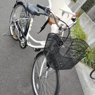 【要メンテナンス】チャイルドシート付子供乗せ自転車