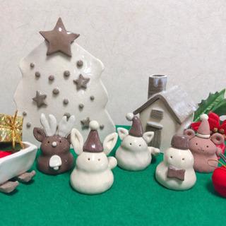 11月8日・14日・15日陶芸教室『クリスマスセット』多賀城会場