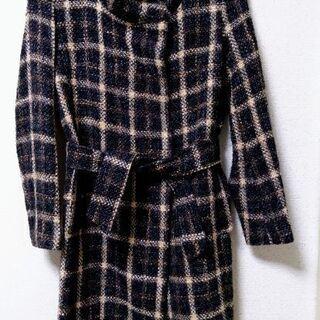 コート ブラウン チェック フリーサイズ