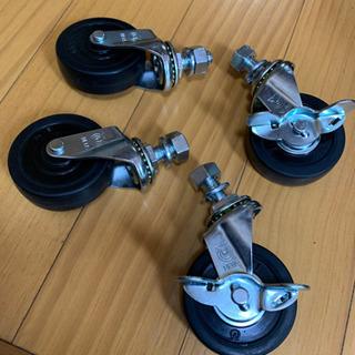 【ネット決済】自在キャスター 車輪径65 ねじ込み式 4個セット...