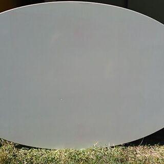 【ネット決済】白いテーブル天板(木製)オーバル楕円形 1500×...