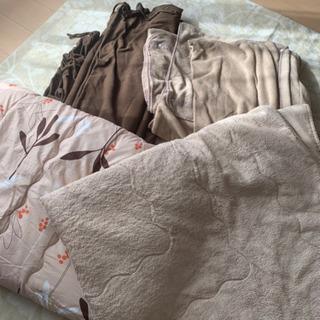 こたつ 正方形 美品 敷パット 掛布団 掛毛布 掛けカバー セット