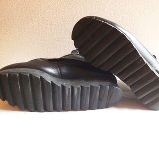 ☆レザー×ヌバック・フロントゴア・ブーツ・ブラック - 売ります・あげます
