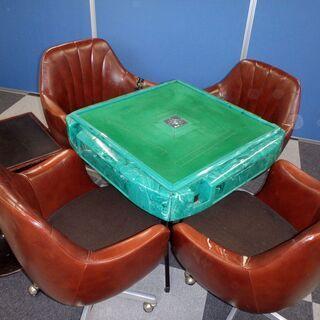 【現状引渡】 【中古】【ジャンク】全自動麻雀卓椅子付き